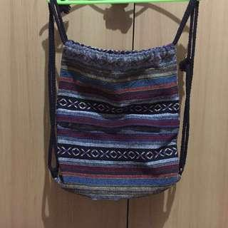 Drawstring bag from baguio
