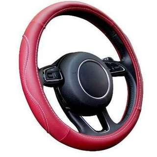 PROMO! Car Steering Wheel Cover for Red Wine and Coffee Brown ONLY!