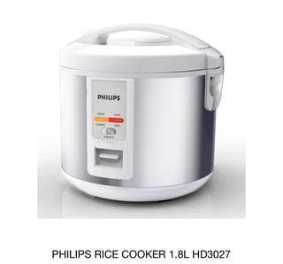 Philips Daily Collection Rice cooker HD3027 1.8 liters