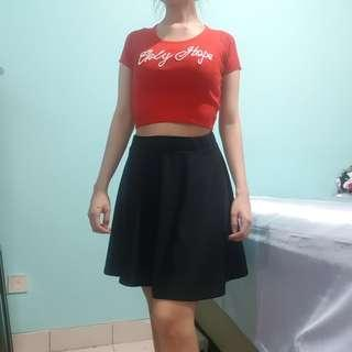 Preloved skirt hitam