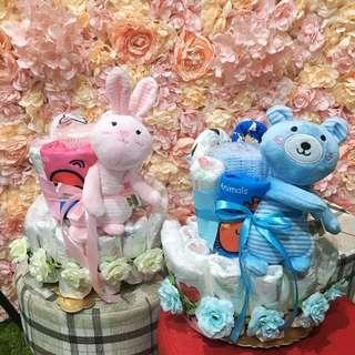 🚚 尿布蛋糕 紫好奇 新生兒 嬰兒 寶寶彌月 滿月 蝴蝶衣安撫娃娃 月子好禮