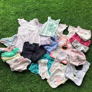 🚚 Bundle of Baby Girl Clothes 0-2 years