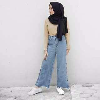 Cullote kafe outfitm / kulot jeans size 32