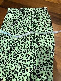 Forever 21 leopard print green skirt #MFEB20
