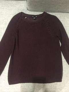 H&M maroon knitted sweater