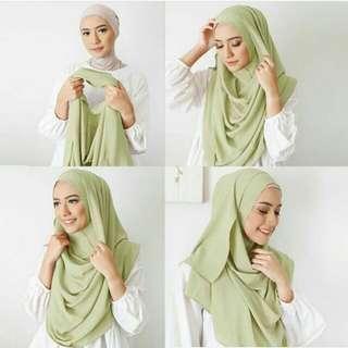 Mala vanilla hijab pashmina instan