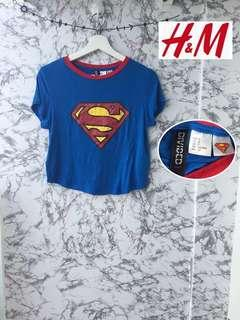 h&m superman tee