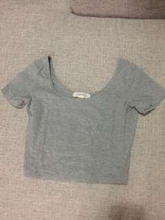 Forever 21 grey cropped top