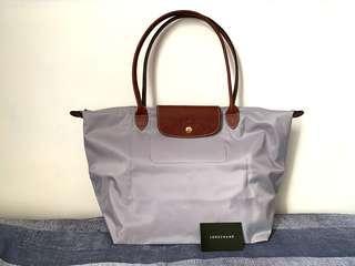 Authentic Longchamp Le Pliage Grey