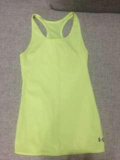 Under armour neon yellow sports tank