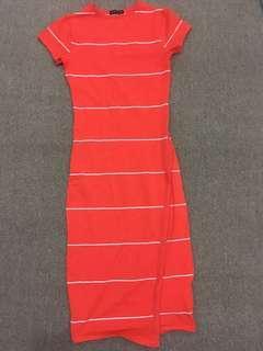 Cotton On Orange Bodycon Dress