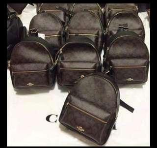 Coach bag pack authentic quality small