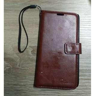 CASING HP CASE SAMSUNG GALAXY S5 SCDREAMER LEATHER BROWN