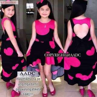 Heart shape back dress 8-12 y.o.