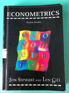 Econometrics Textbook, Jon Stewart & Len Gill