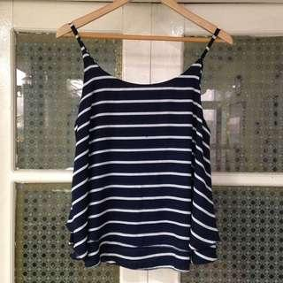 Stripes Blue Tank Top (Free size)