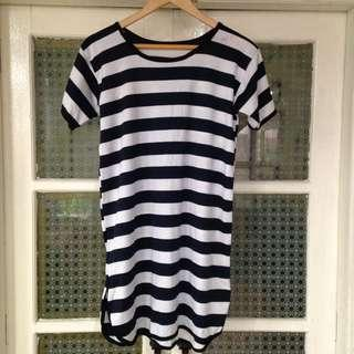Stripes Shirt Dress (L)