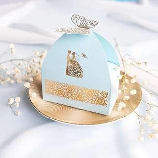 🚚 Butterfly Tip Gold Printed Paper Gift Box
