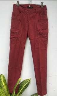 red brick vintage cargo pants