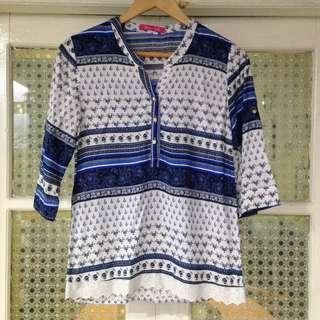 Thailand Blue Printed Top (L/XL)