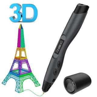 2621. Aerb Printing Intelligent 3D Pen with LCD Screen, Black, 6.410.220