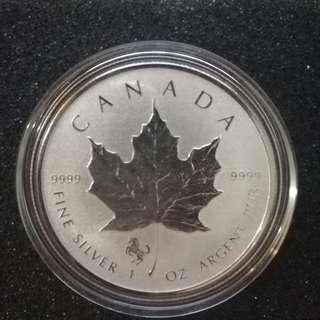 2014 Canada 1 oz Silver Maple Leaf Lunar Horse Privy