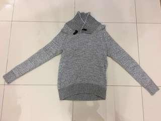 H&M Turtleneck Wool Sweater Grey