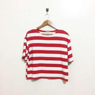 Red stripes Loose top