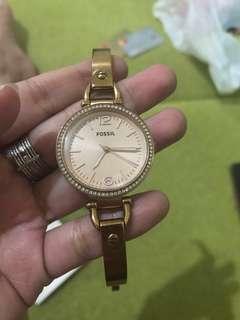 jam tangan fossil georgia rose gold