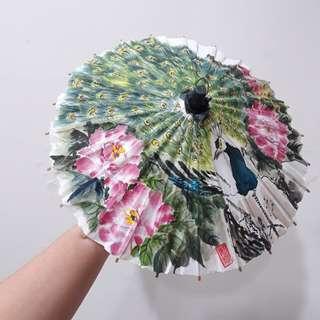 古典手工油紙傘-孔雀