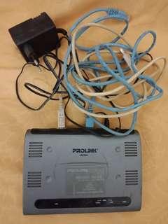 [SALE - NO NEGO] Modem Prolink ADSL Hurricane 9000 + FREE D-Link Ethernet Switch 8port