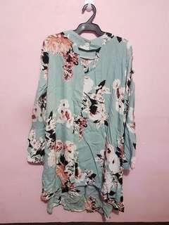 Turquouise Floral Dress