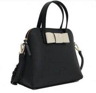 <<KATESPADE>> maise matthew satchel black