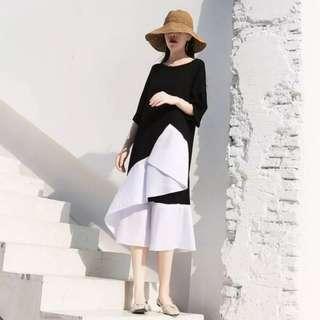 🚚 [PO] Korean Asymmetric Hem Dress (100)
