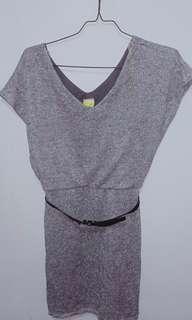 Obral Gaun knit silver blink