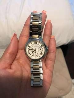 Michael Kors gold and silver watch