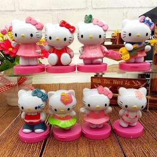 🚚 New Hello Kitty cake topper decoration birthday party toys hellokitty Figurines