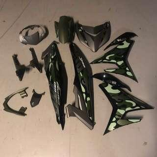 Y15 Sniper Exciter 150 Limited Edition Matte Green Camo Ori Coverset