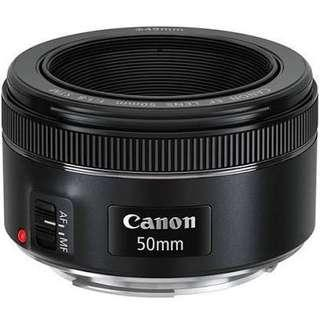 Canon EF 50mm f1.8 STM mint condition
