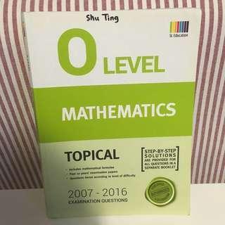 O Level Mathematics Topical TYS 2007-2016