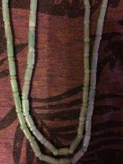 通透彩綠頸項/全長24吋