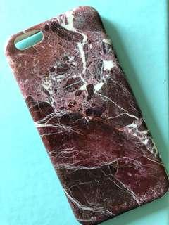 [Marble] iPhone 6 Marble Casing in Maroon