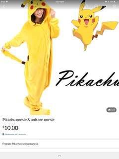Pikachu and unicorn onesie