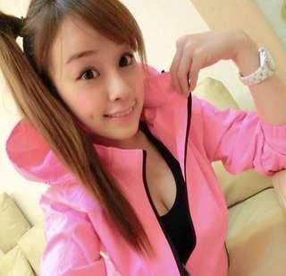 🚚 運動風衣外套M號 螢光粉色