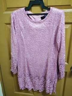 baju kurung moden pink