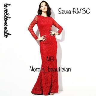 ( RENT RM30 ) Glitter Red Dress