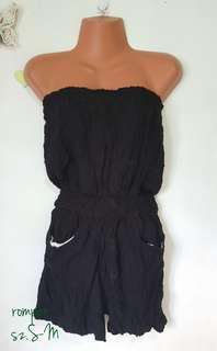 tube black romper