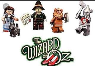 Lego movie 2 wizard of oz- Dorothy, lion, scarecrow and tinman set (8 sets available)