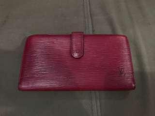 Louis vuitton epi wallet red
