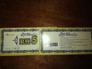 Milky Way RM5 cash voucher (2pcs) & RM8 cash voucher (6pcs)